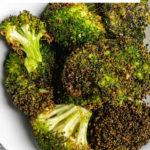 Air Fryer Roasted Broccoli-pinterest image