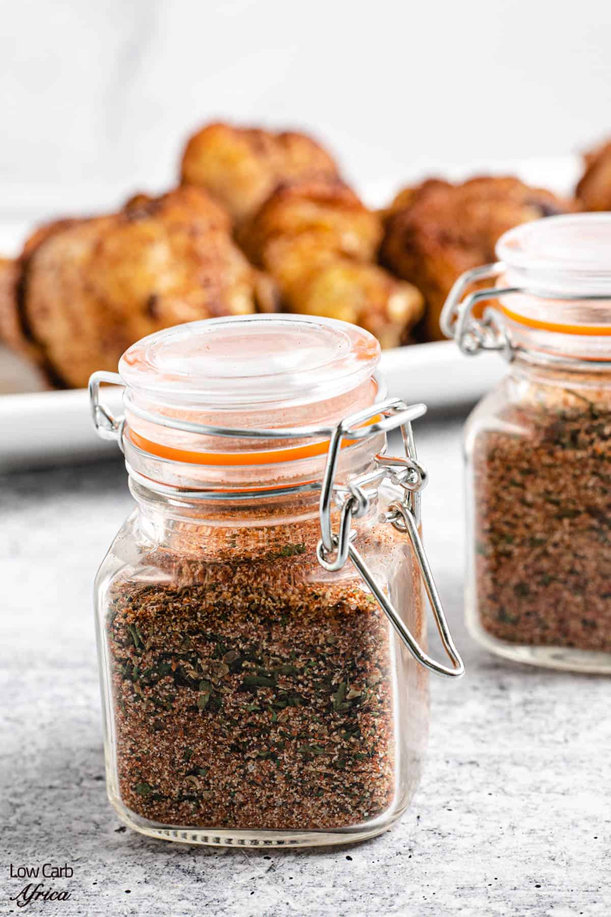 homemade chicken seasoning mix in a container