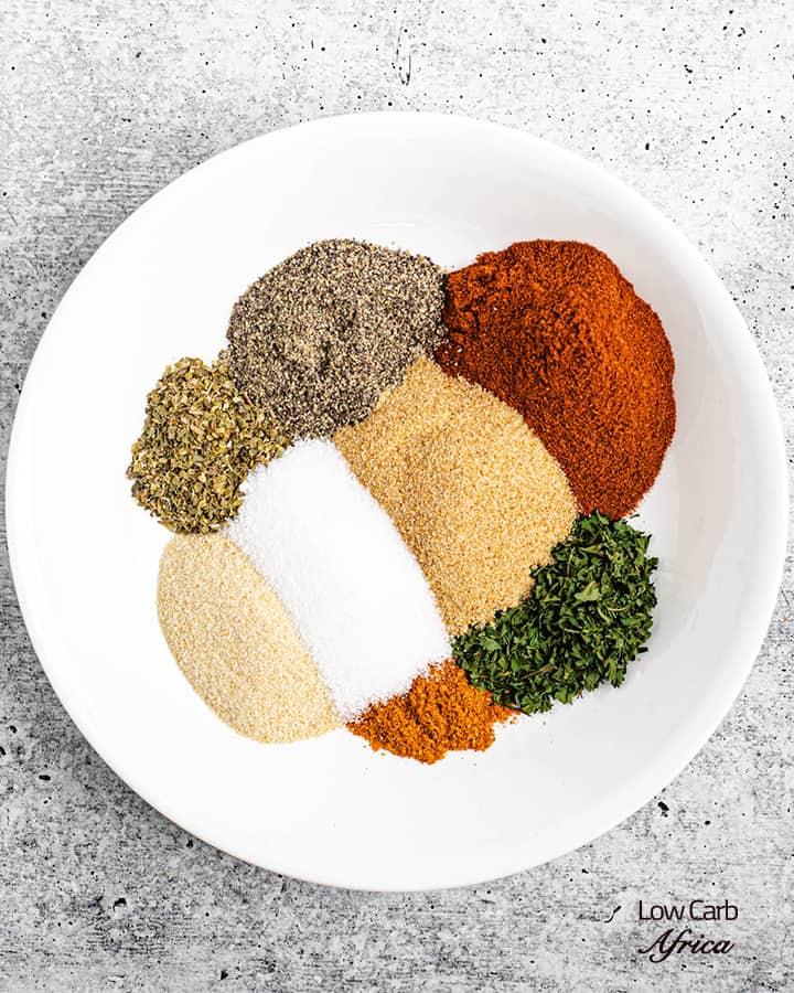 paprika, garlic powder, cayenne pepper