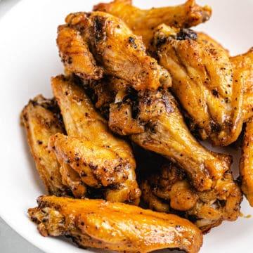 frozen wings on a plate
