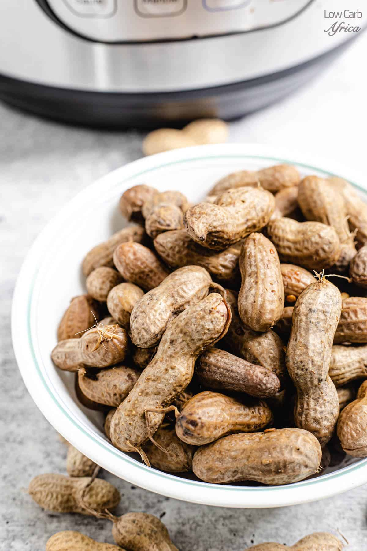 bowl of spicy boiled peanuts
