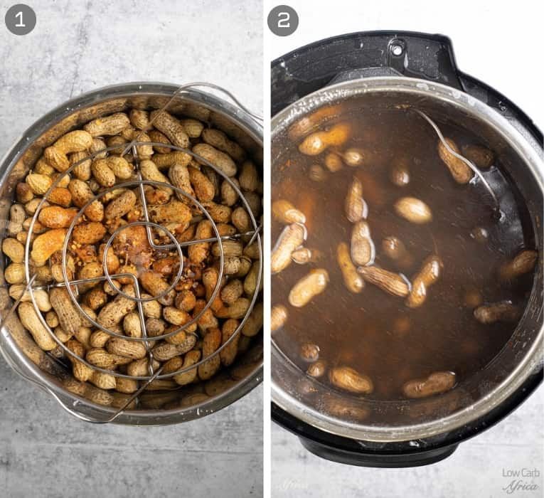 making peanuts in the instant pot