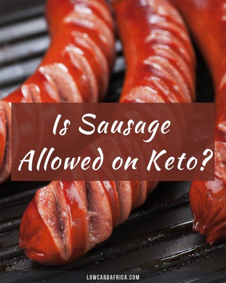 closeup image of grilled sausage