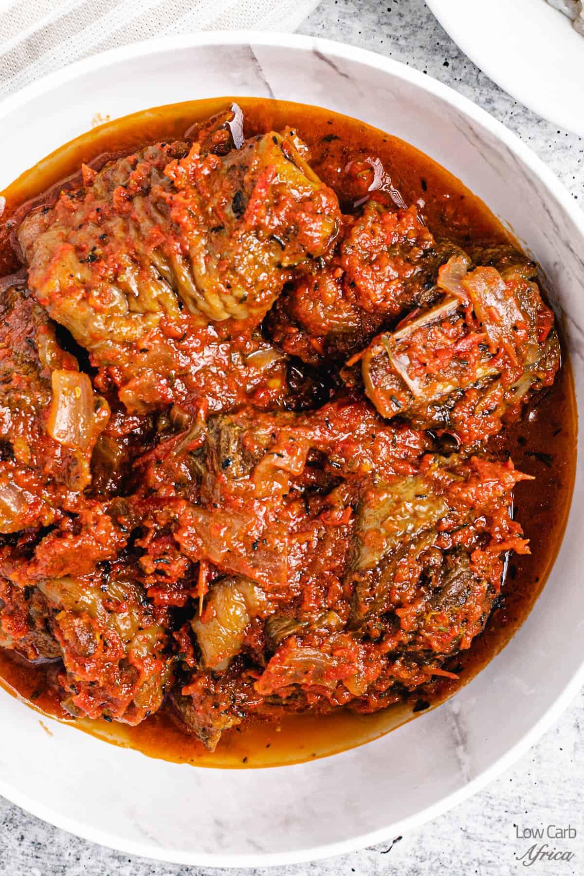 African turkey stew