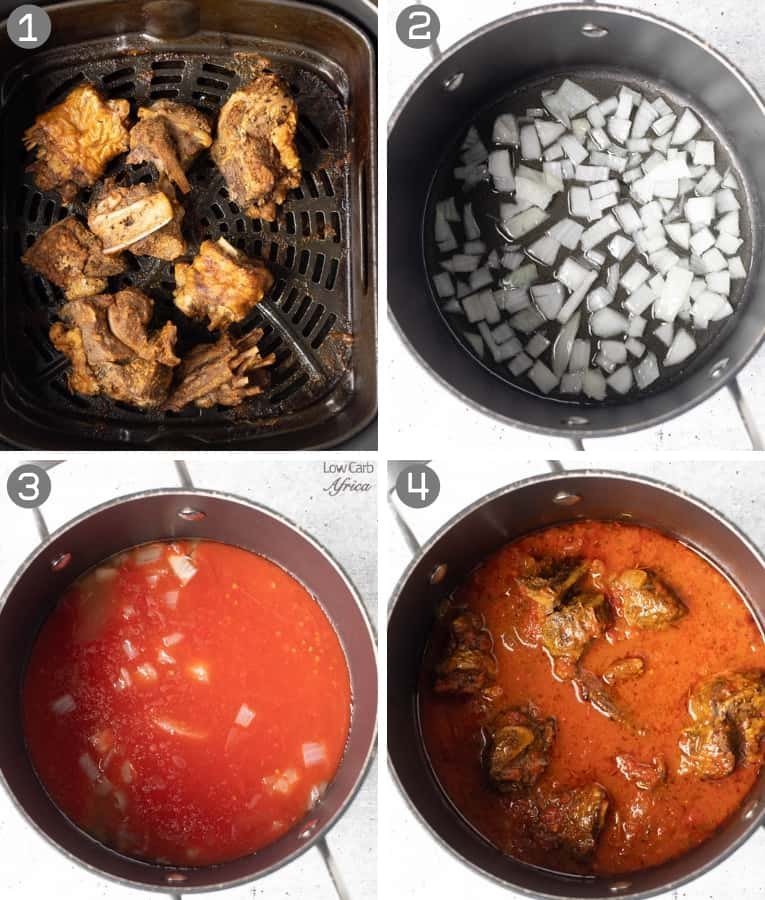 collage used in making turkey stew
