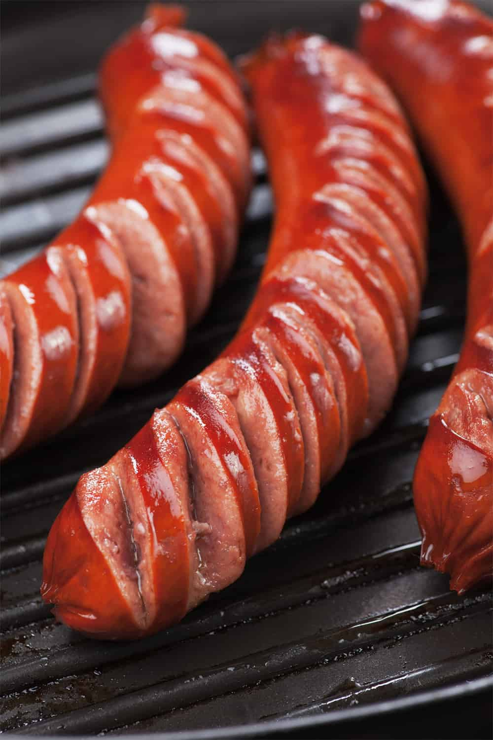 sausage on a grill